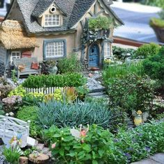 Charming fairy cottage and sprawling garden with walkway