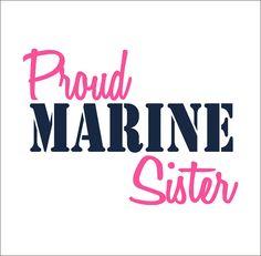 Proud Marine Sister Vinyl Car Decal by CustomVinylbyBridge on Etsy, $9.00