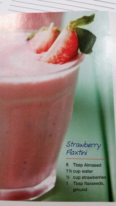 Strawberry flaxtini smoothie (almased) - southern living