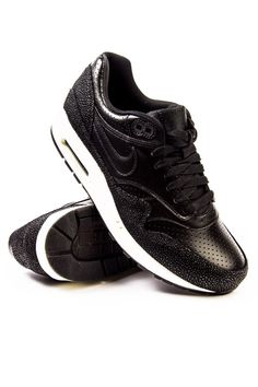 info for aa6ac 38c6c Nike Air Max 1 Leather PA Black Black Sea Glass Black Sneaker