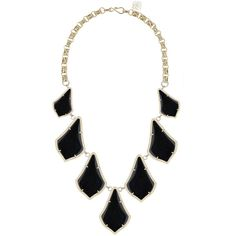 Kendra Scott Kensey Graduated Station Necklace ($88) ❤ liked on Polyvore featuring jewelry, necklaces, accessories, collares, black jewelry, graduation jewelry, station necklace, kohl jewelry and 14 karat gold necklace