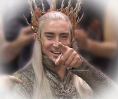 Back atcha! Nice to see Lee smile and laugh, Thranduil is always so somber.