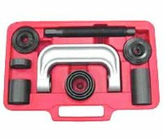Ball-Joint Service Kit : The majority of vehicle have press-inball joints, so stop searching for make-shiftsolutions for servicingthese vehicles – everything required is laid out in this one completekit.  http://techprotools.ca/index.php?main_page=product_info&cPath=33&products_id=75