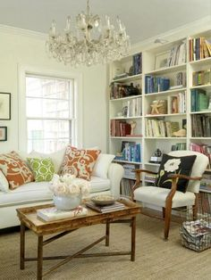 Our Best De-Cluttering Tips | Traditional Home I want some book shelves...basement maybe