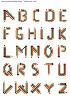 alfabeto delle matite