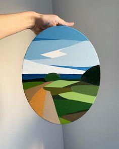 30 Super Ideas For Geometric Nature Art Drawings Simple Canvas Paintings, Small Canvas Art, Mini Canvas Art, Abstract Landscape Painting, Landscape Paintings, Art Paintings, Abstract Art, Landscape Art, Landscape Architecture