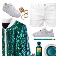 """""""Shein"""" by simona-altobelli ❤ liked on Polyvore featuring Frame Denim, Gucci and Tom Ford"""