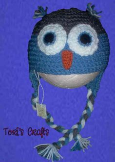 Child+Blue+Owl+Hat