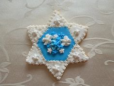 Star of David hand-decorated sugar cookie by CreativeChaosinCT, $48.00