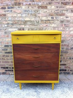 Mid Century Dresser In Mustard Yellow by minthome on Etsy