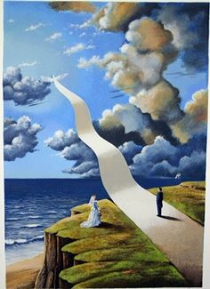 Buy online, view images and see past prices for RAFAL OLBINSKI Shape of Intimate Illusion Hand Signed Ltd Edition Serigraph. Invaluable is the world's largest marketplace for art, antiques, and collectibles. Rene Magritte, Illusion Kunst, Vladimir Kush, Magic Realism, Visionary Art, Salvador Dali, Surreal Art, Optical Illusions, Fantasy Art