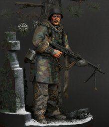 WWII - Figurine 1/16 - Mitrailleur Allemand 2e guerre mondiale - Terminé 3e0a87bf50ac23f083553080b4d5585e--scale-model-budapest