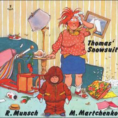 a link to Robert Munsch's site where he reads his books aloud