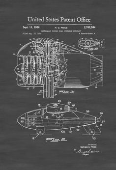 Vertical Takeoff Flying Car Patent - Airplane Blueprint Airplane Art Pilot Gift  Aircraft Decor Airplane Poster VTOL Flying Car by PatentsAsPrints