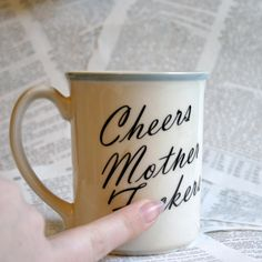 Cheers Mother F ckers Mug by geekdetails on Etsy, $18.00