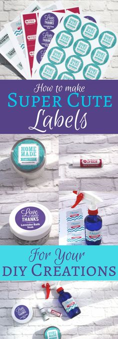 #Ad You work hard on your DIY Creations, so shouldn't your labels reflect that? Check out these Super Cute Labels to give your products a leg up on the competition...