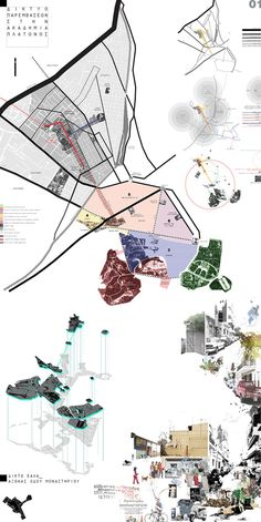 """Articles - STUDENTS PROJECTS - DESIGN PROJECTS - 2010 - """"Urban intervention network in Plato's Academy_A Museum of the city of Athens proposal"""""""