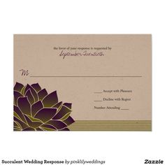 Succulent Wedding Response