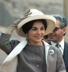 Empress Farah, March 1961 | The Royal Hats Blog-Empress Farah celebrates her 75th birthday today October 14, 2013 (b. October 14, 1938)