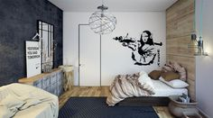 Modern apartment with industrial accent