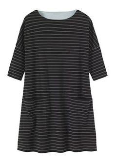 BRETON STRIPE DRESS by TOAST