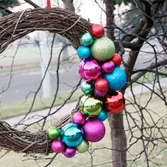 Have you made your holiday wreath yet? If not, this simple ornament wreath DIY is just for you!