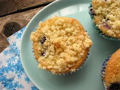 Post image for Grain Free Blueberry Crumb Muffins. (Gluten/Dairy/Soy Free)