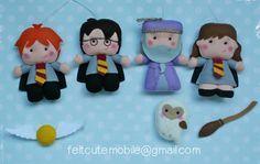 Harry Potter móviles, cuna móviles, cuarto de niños de Harry Potter, mago, muebles, Fieltro regalos muñeca, muñecas niña, niño cama,…