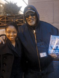 """This photo was sent in by Sydney Holman.  She writes, """"Mr. Moody works at  my Metra Station and over the years,  we've formed a great friendship. His  pure heart, positive spirit and unwavering  kindness always brings me joy!""""  Sydney was also a former intern at  StreetWise and would like to thank  Editor-In-Chief Suzanne Hanney for her  journalistic guidance. Thanks, Sydney!"""