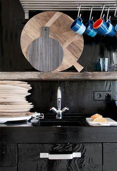 Broodplank Marmer - Grijs - Rond - HK Living