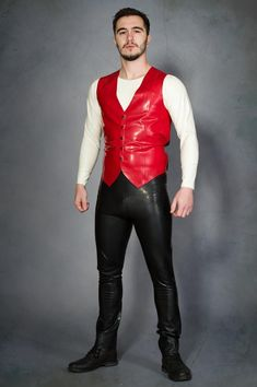 Tight Leather Pants, Leather Trousers, Leather Jacket, Jacket Men, Latex Pants, Latex Suit, Latex Men, Men's Waistcoat, Sports Uniforms