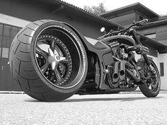 "Designed by German Marcus Walz for Finnish World Formula 1 GP Champion Kimi Räikkönen, the ""Iceman"" custom motorcycle. www.walz-hardcore-cycles.de"
