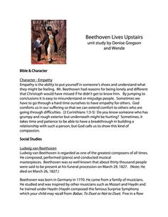 Composer Specials: BEETHOVEN LIVES UPSTAIRS | Pinterest | Music ...