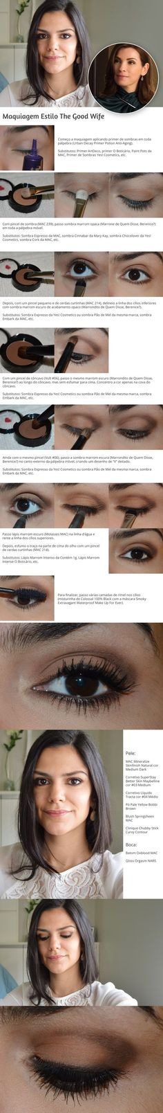 Tutorial: Maquiagem estilo The Good Wife http://www.2beauty.com.br/blog/2015/07/03/tutorial-maquiagem-estilo-the-good-wife/ #tutorial #maquiagem #TheGoodWife