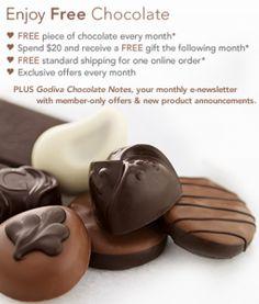 Join Godiva's Rewards Club for FREE Chocolate