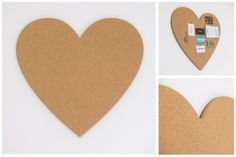Heart - Pin Board Size: x / x Fine Agglomerate Cork with a MDF supawood backing board. Hanging system is pre-installed. Diy Cork Board, Earth Design, Office Accessories, Valentine's Day Diy, Valentines Diy, Girls Bedroom, Decorative Items, Heart Shapes, Crafty