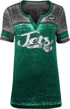 Team Apparel Women s New York Foil Burnout V-Neck T-Shirt e5d69acee