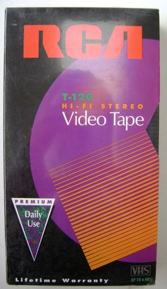 RCA Hi-Fi Stereo Premium VHS Video Cassette Tape - 6 hours Durable and Consistent Performance Vhs Cassette, Vhs Tapes, Cd Design, Graphic Design, Retro Design, Logo Design, Retro Typography, Vhs Movie, Math Books