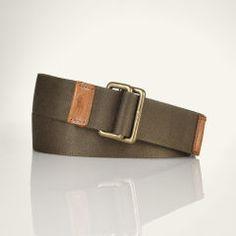 Solid Webbed-Cotton Belt - Polo Ralph Lauren Belts & Braces - RalphLauren.com