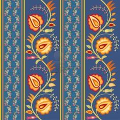 11224398-bright-floral-seamless-ornament-with-flowers-in-folk-style.jpg (1200×1200)