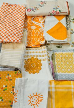 www.finelittleday.com-- my goal is to have a huge variety of linens! We use napkins at dinner and it really increases the loveliness of a family meal! :)