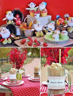 """""""Hi Ho, Hi Ho, it's off to PARTY we go..."""" ;) This 7 Dwarfs inspired birthday party by Qeryldine of Confetti Couture is absolutely darling! I'm especially"""