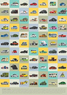 Check out this grid of famous cars! Can you name them all? #cars #famous #popular
