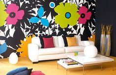 What a bit of paint and some stencils can do for a room... Amazing, really. #DIY