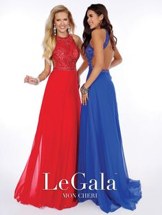 Mon Cheri Legala - sleeveless chiffon prom dress #prom or #homecoming