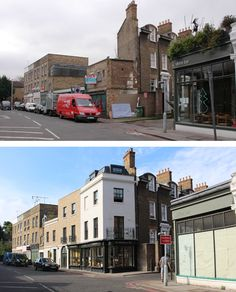 Grove Lane - before and after Hill Bakery Camberwell SE5
