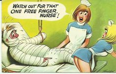 Bamforth Comic Postcard Blonde Nurse Hospital Bed Theme No 188 Funny Cartoon Pictures, Cartoon Jokes, Adult Dirty Jokes, Adult Humor, Adult Cartoons, Sexy Cartoons, Funny Toons, Funny Postcards, Vintage Postcards