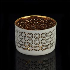 hollow out snowflake design ceramic candle holder is perfect for home decoration, bar, restaurant occasions