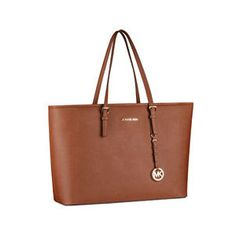 Michael Kors JetSet Macbook Bag in Luggage brown