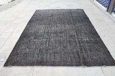 Over-dyed Vintage Rug 7.0 X 10.8 FT ( 215 X 330 CM ) - Area Rugs